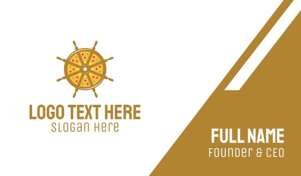 fastfood - Nautical Pizza Business card horizontal design