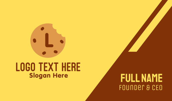 biscuit - Brown Cookie Bakery Lettermark Business card horizontal design