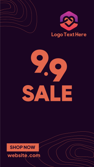 9.9 Sale Lines Facebook story