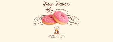 Strawberry Flavored Donut Facebook Cover