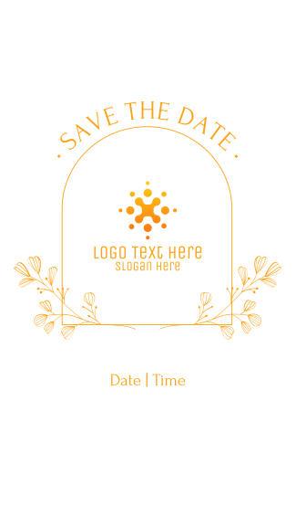 Simple Save the Date Facebook story