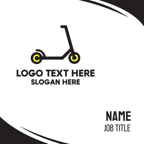 Black Scooter Business Card