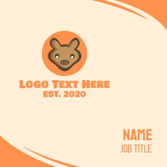 Baby Joey Kangaroo Business Card
