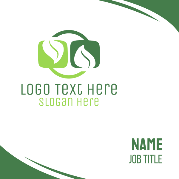 Circle Leaves Business Card