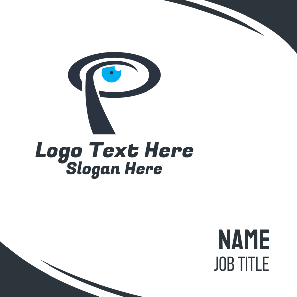 Eye Letter P Business Card