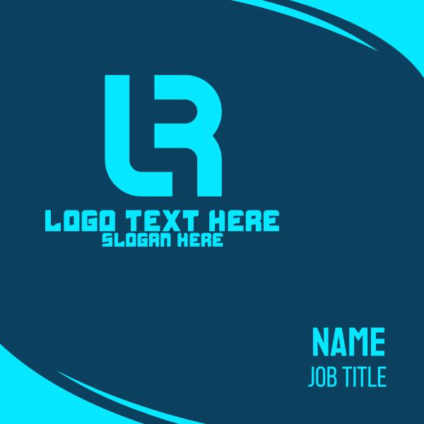 L & R Monogram Business Card
