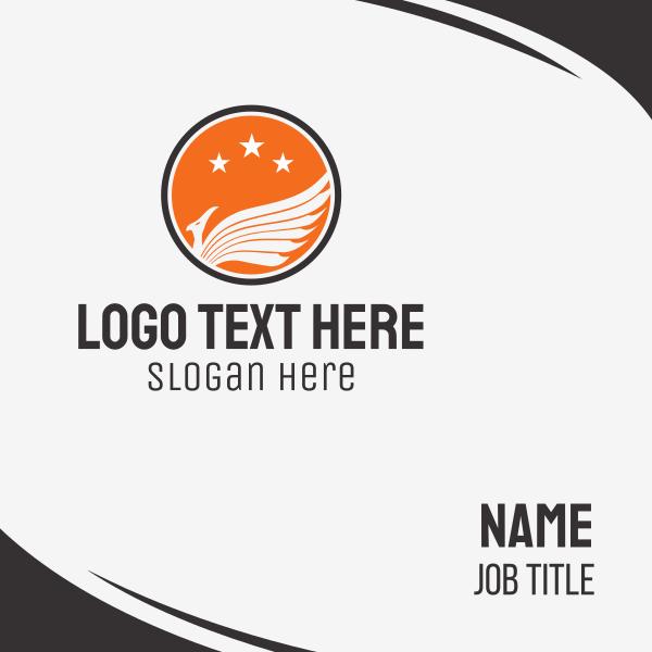 White Bird & Orange Circle Business Card