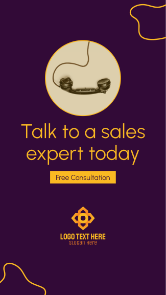 Talk To A Sales Expert Facebook story