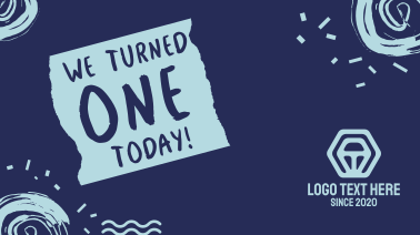 We Turned 1 Today Facebook Event Cover