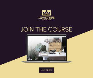 Join The Course Facebook post