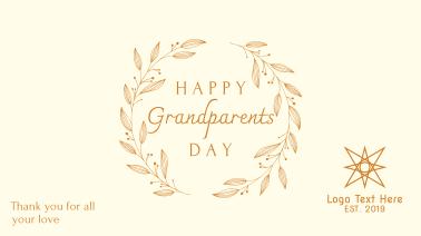 Elegant Classic Grandparents Day Facebook event cover
