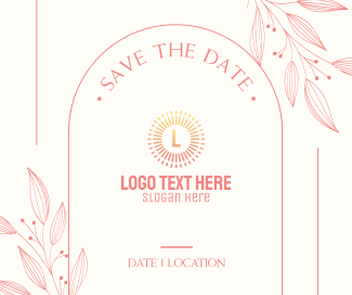Save the Date Frame Facebook post