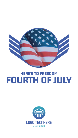 Fourth of July Facebook story