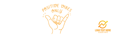 Positive Vibes Hand Sign Twitter header (cover)