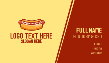 Hot Dog Sausage Business Card