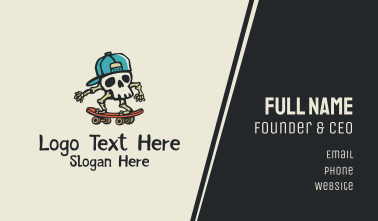 Skull Skater Skateboard Business Card