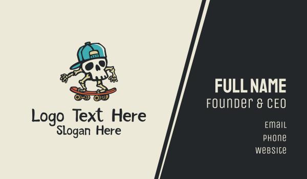 cap - Skull Skater Skateboard Business card horizontal design