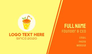 Orange Juice OJ Drink Business Card