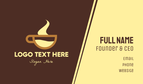 brown cup - Hot Chocolate Beverage Business card horizontal design