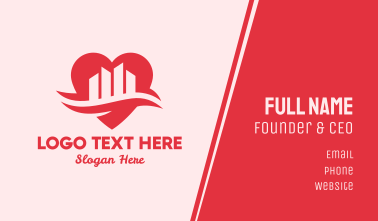 Heart Love City Business Card