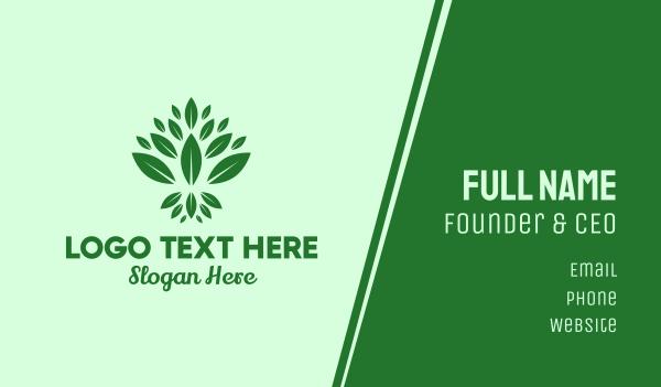 tea house - Organic Green Leaves Business card horizontal design