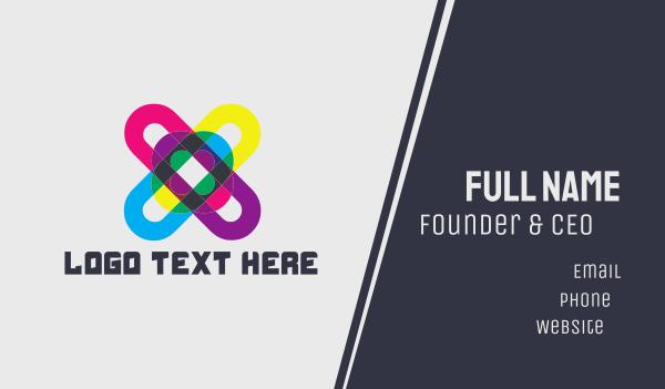 hashtag - Colorful Hashtag Business card horizontal design