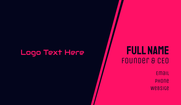 computer software - Futuristic  Hot Pink  Business card horizontal design