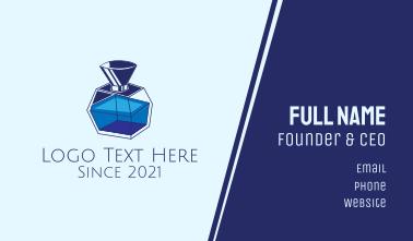 Blue Perfume Bottle Business Card