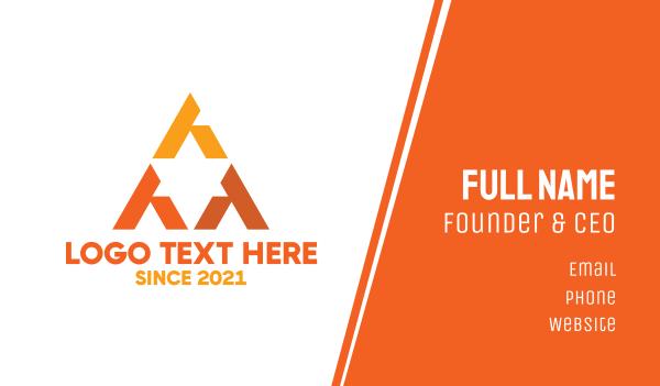 talent - Orange Triangular Star Business card horizontal design