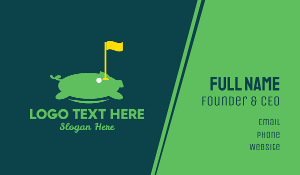 golf tournament - Golf Tournament Business card horizontal design