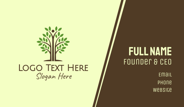 brown tree - Tall Support Tree Business card horizontal design