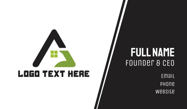 triangle - Triangle House Business card horizontal design