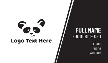 Smiling Panda Face Business Card