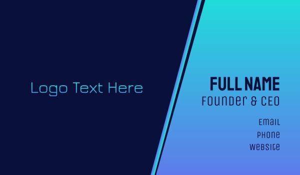 industries - Technological Wordmark Text Font Business card horizontal design