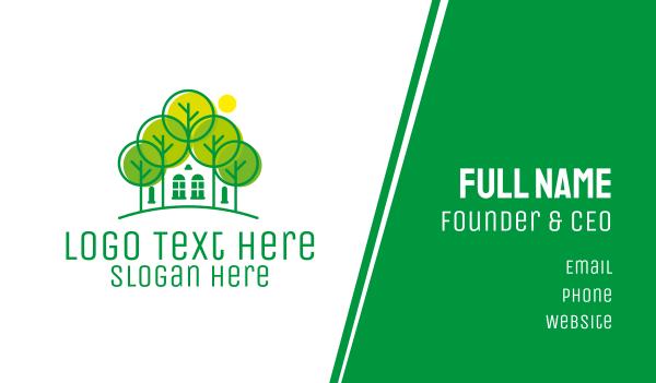 green city - Green Forest House Business card horizontal design