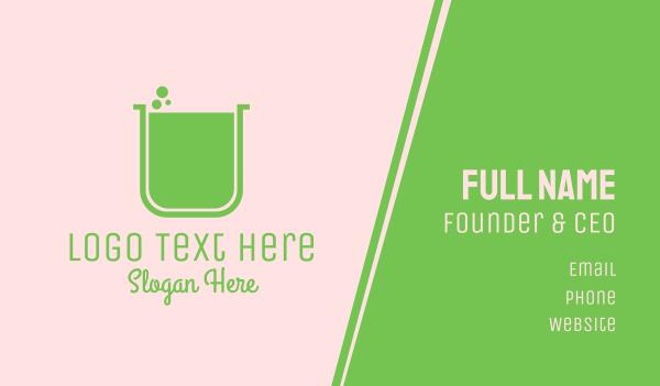 new - Green Lab Jar Business card horizontal design