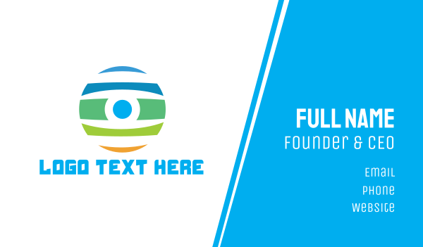 eyeball - Colorful Eyeball Business card horizontal design