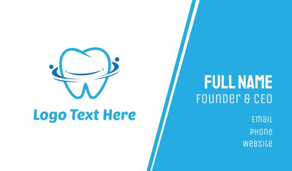 dental clinic - Blue Tooth Business card horizontal design