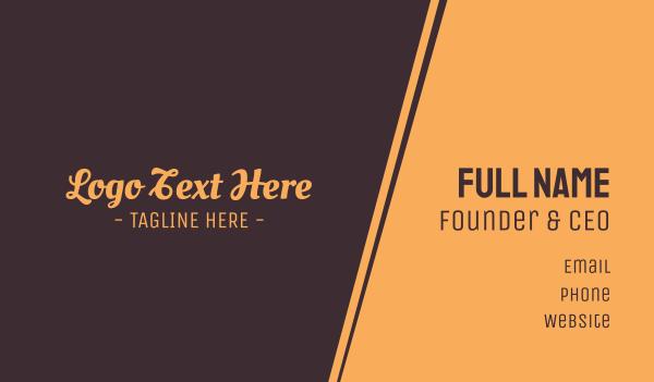 tradition - Brown Cursive Font Business card horizontal design