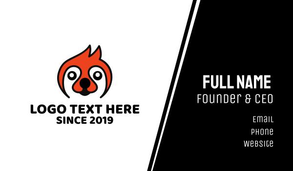furry - Orange Sloth  Business card horizontal design