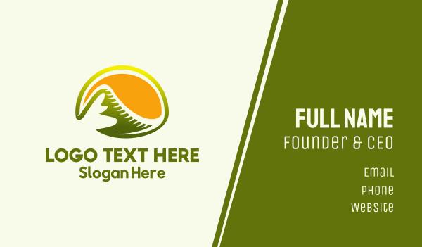 trail - Sunny Volcano Business card horizontal design