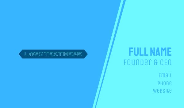 edgy - Futuristic Technological Wordmark Text Business card horizontal design