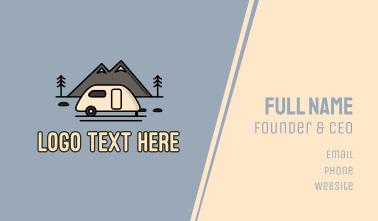Campervan Mountain Business Card