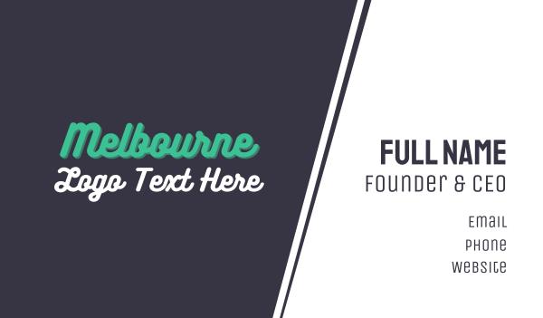 green city - Melbourne Wordmark Business card horizontal design