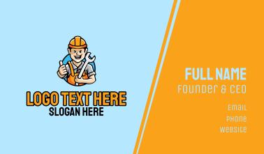 Builder Hard Hat Business Card