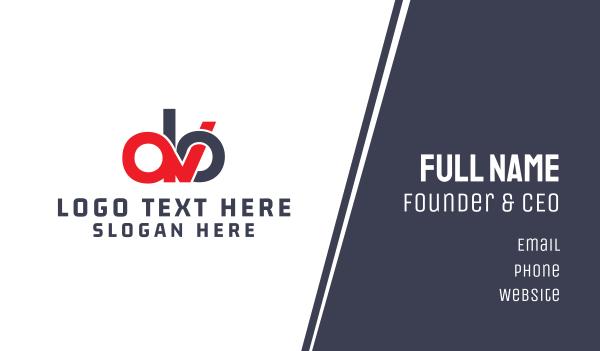 merchandise - Letter ALVO Business card horizontal design