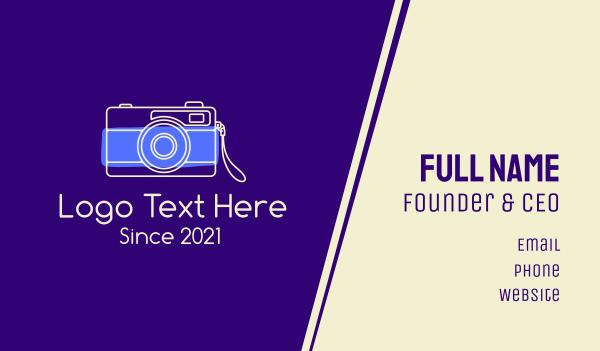 digital camera - Minimalist Photographer  Business card horizontal design