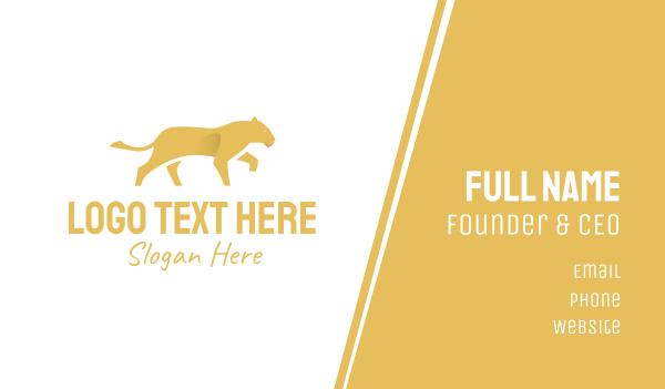 fierce - Lioness Lion Business card horizontal design