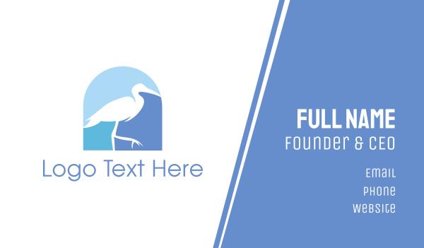 seagull - Blue Stork  Business card horizontal design