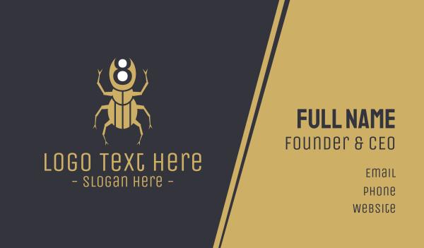 fumigation - Beetle Number 8 Business card horizontal design